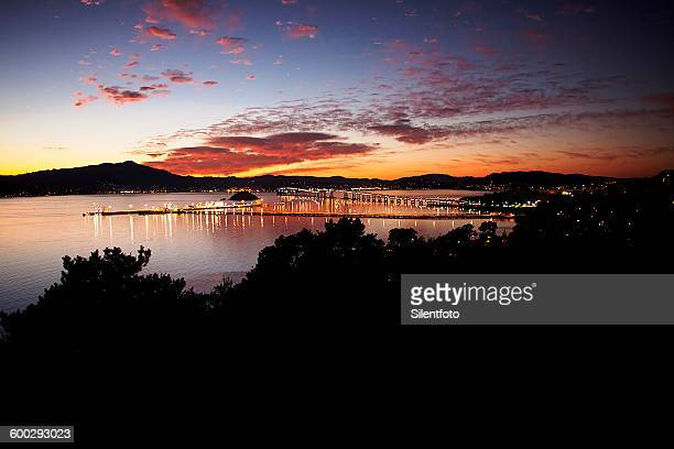 evening in the north bay - san rafael california stock pictures, royalty-free photos & images