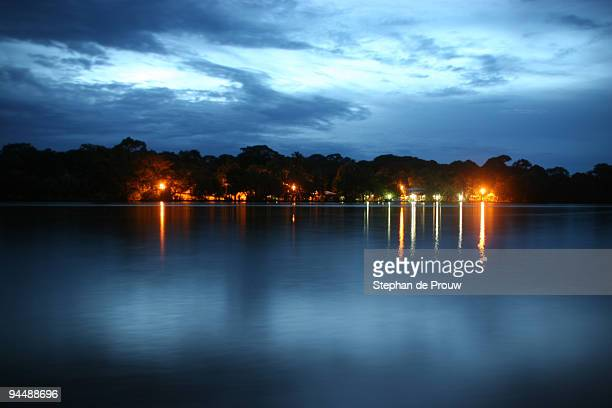 evening lagoon - stephan de prouw stock pictures, royalty-free photos & images