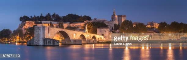 Evening light at Avignon in Provence, France