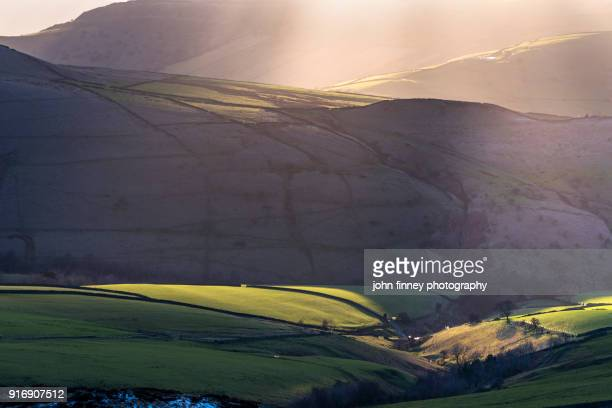 Evening light. English Peak District. UK.