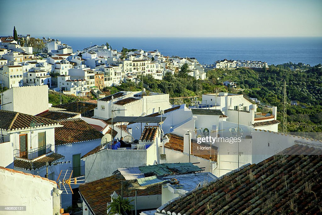 Evening light - Frigiliana. : Stock Photo