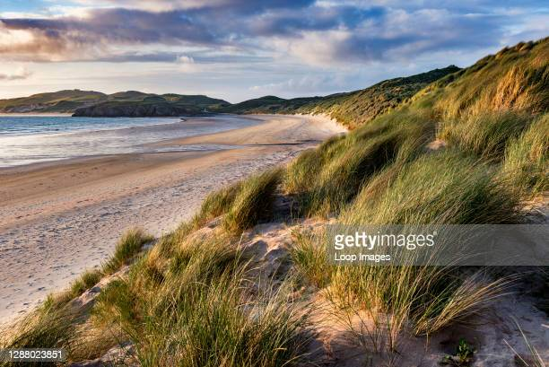Evening light on the dunes at Balnakeil Bay near Durness.