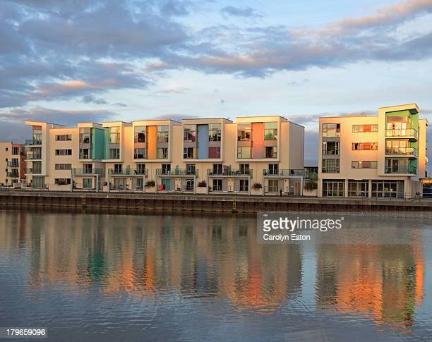 evening light, portishead marina - portishead stock pictures, royalty-free photos & images