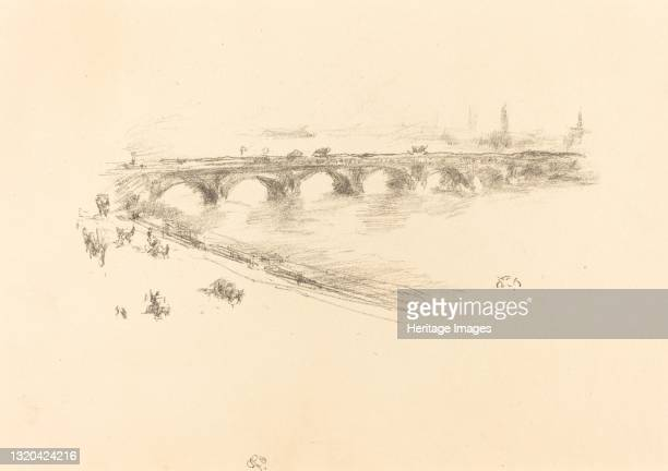 Evening, Little Waterloo Bridge, 1896. Artist James Abbott McNeill Whistler.