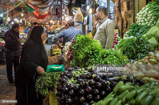 Evening Market Scene on April 05 2016 in Amman Jordan