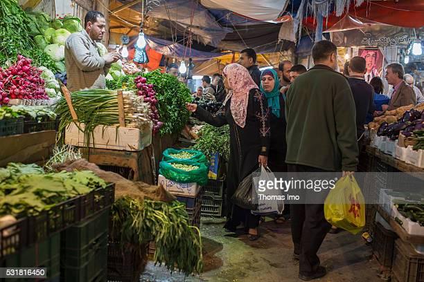 Evening Market Scene on April 05 2016 in Amman Jordan