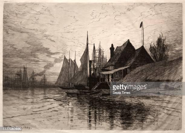 Evening, New York Harbor, 1884. Henry Farrer . Etching; sheet: 35.8 x 49 cm ; platemark: 24.7 x 34.7 cm .