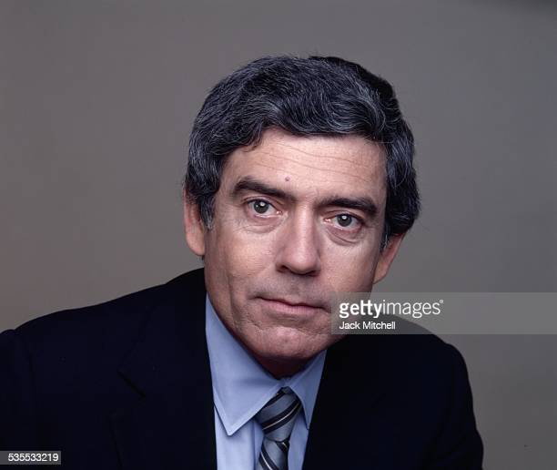 CBS Evening News anchor Dan Rather photographed in 1981