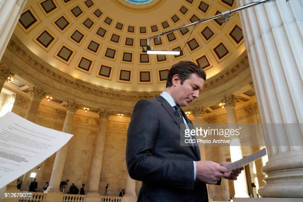 Evening News Anchor Jeff Glor reports live from Capitol Hill for coverage of the 2018 State of the Union on Jan 30 in Washington DC