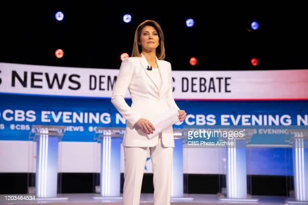 Evening News broadcasting from the 2020 Democratic Debate in Charleston SC on February 25 2020 Pictured Norah O'Donnell