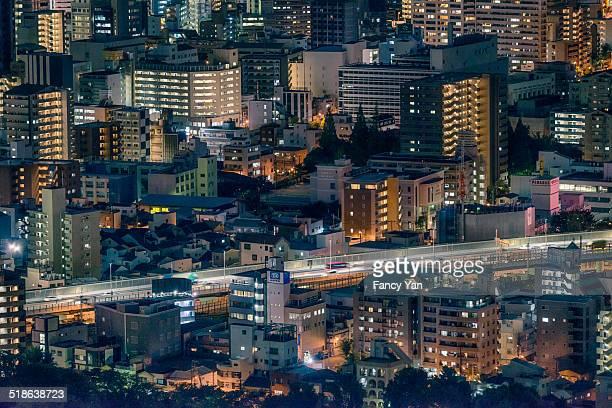Evening of Osaka, Japan