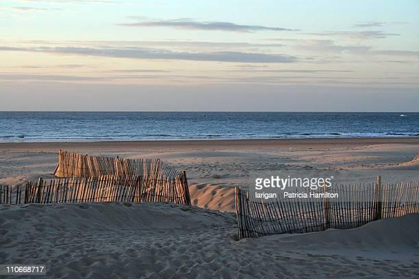 evening on beach - calais stock-fotos und bilder