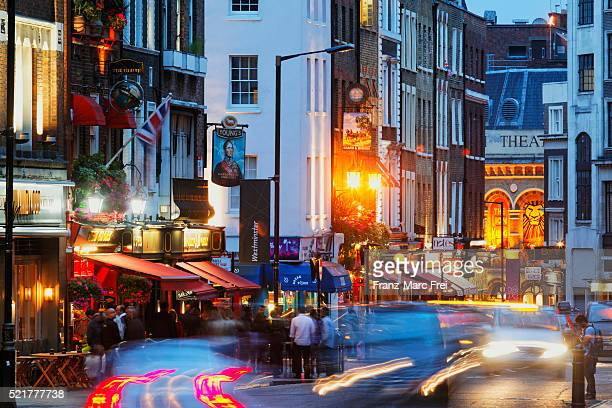 Evening on Bow Street, Covent Garden, London