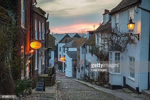 Evening on Mermaid Street in Rye Rye England