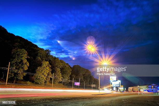 Evening on the highway, Kiev, Ukraine.