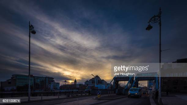 Evening on the North Quays, Dublin, Ireland