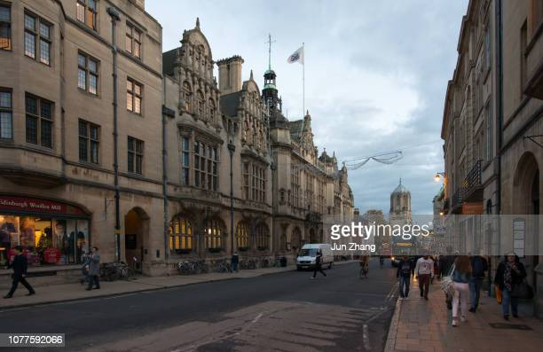 Evening on the St. Aldate's street, Oxford, UK