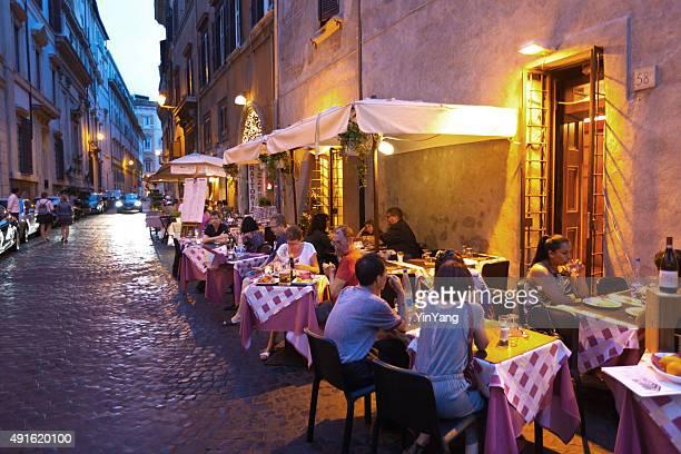 Abend im Freien Street Restaurants und Nachtleben von Rom