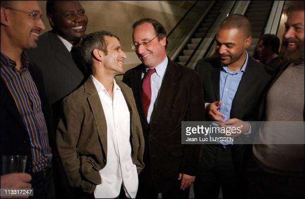 Evening Party Of The Godfathers Of S.O.S Racism At The Sofitel Hotel Of Paris Bercy On March 7Th, 2005 In Paris, France - Harlem Desir, Fode Sylla,...