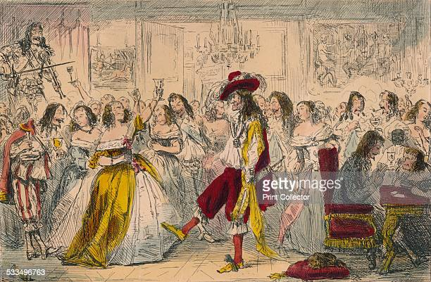 Evening Party Time of Charles II 1850 A satirical illustration of King Charles II King Charles II was know as the 'Merry Monarch' He had a great...