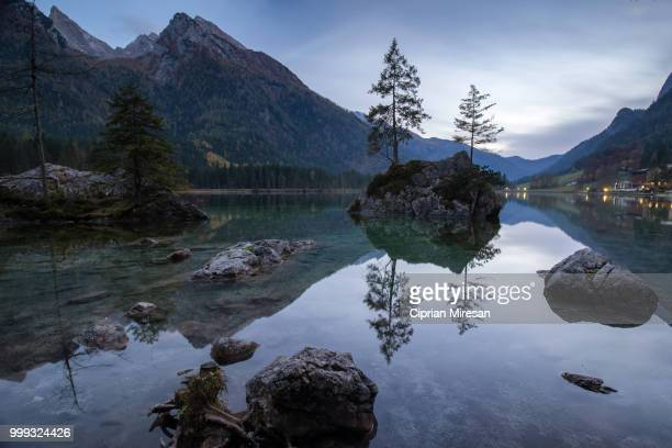 Evening reflection on the lake Hintersee