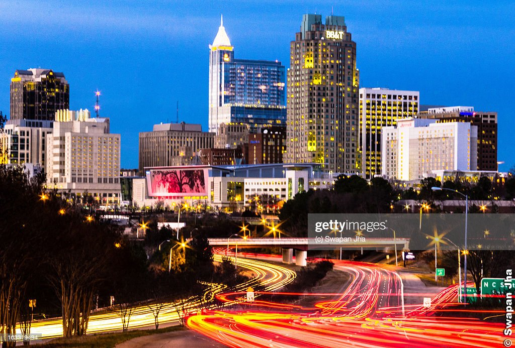 Evening Rush hour in Raleigh, NC : Stock Photo