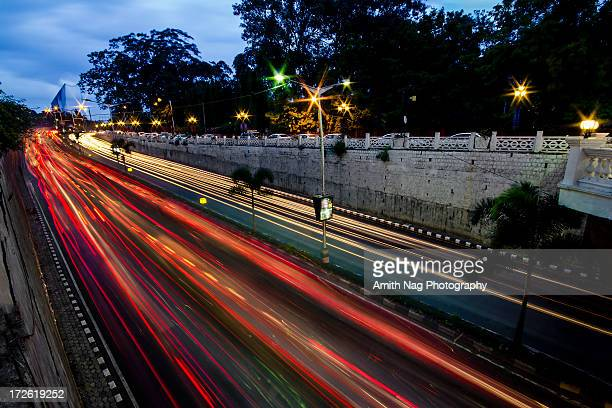 evening rush - bangalore stock pictures, royalty-free photos & images