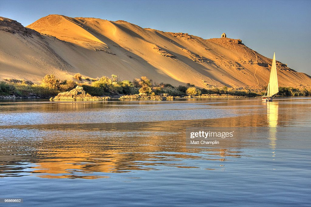 Evening Sail on a Felucca : Stock Photo