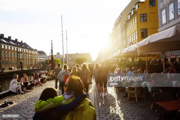 Evening scene in Nyhavn