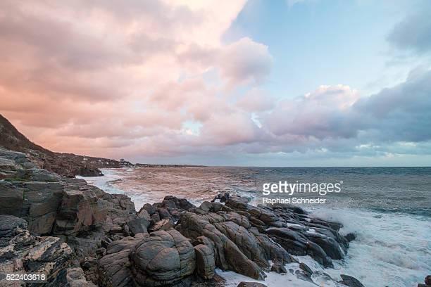 Evening scenery at the coast of Kullaberg,  southern Swedish