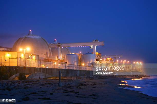 Evening sets on the San Onofre atomic power plant December 6 2004 in northern San Diego County south of San Clemente California Electric companies...