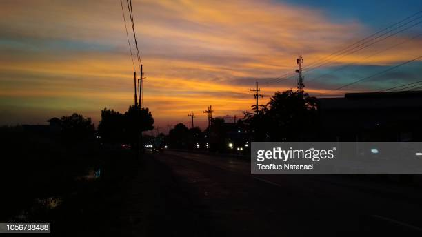 evening sky - east java province stock pictures, royalty-free photos & images
