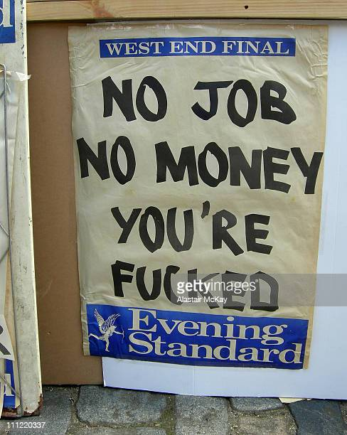 Evening Standard billboard photographed at Art Car Boot Fair 2007 Brick Lane London