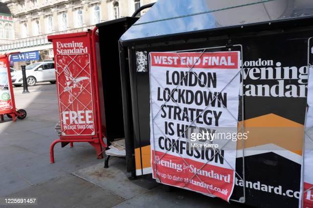 Evening Standard newspaper headline reads 'London Lockdown strategy is hit by confusion' under coronavirus lockdown on 1st July 2020 in London,...