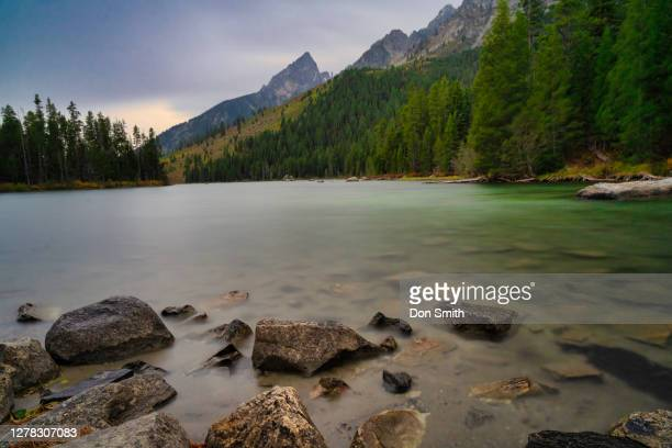 evening storm, string lake, grand teton - don smith stock pictures, royalty-free photos & images
