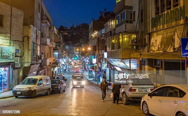 Evening Street Scene on April 05 2016 in Amman Amman