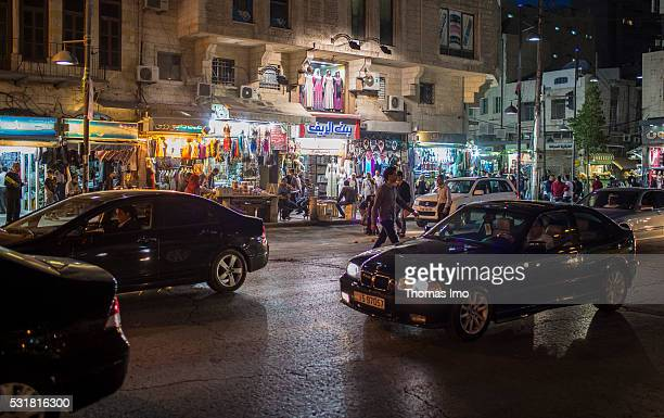 Evening Street Scene on April 05 2016 in Amman Amman