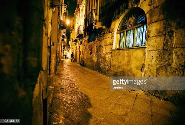 Abend-Straße Nachtleben
