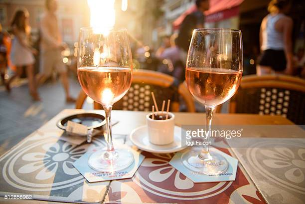Evening sun and Apéritif, in Nice, France