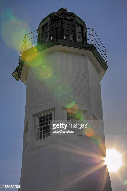 evening sun - old scituate lighthouse - lisa cranshaw stock pictures, royalty-free photos & images