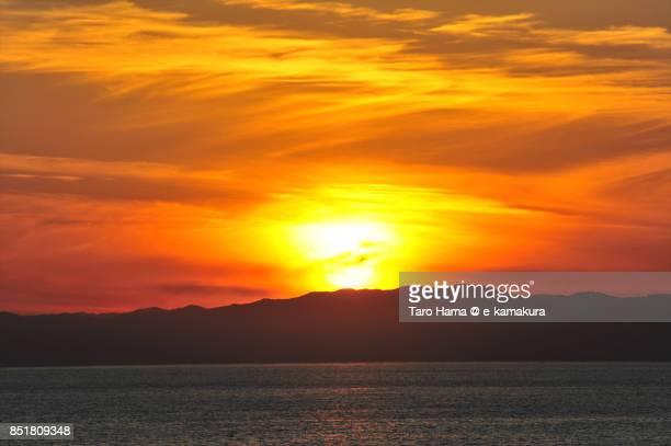 Evening sun on Izu peninsula and Sagami Bay