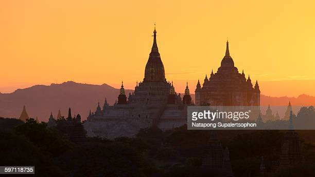 Evening sunset in Bagan