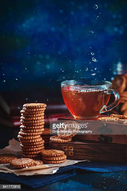 Evening tea with rye biscuits