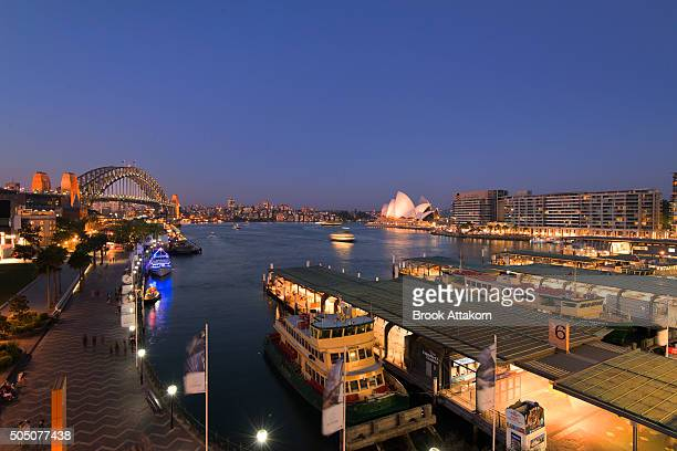 Evening Time at Circular Quay.