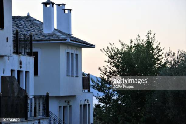 Evening time in a village in Pelion A mountain in the Southeastern part of Thessaly central Greece Pelion is full of villages showcasing local...