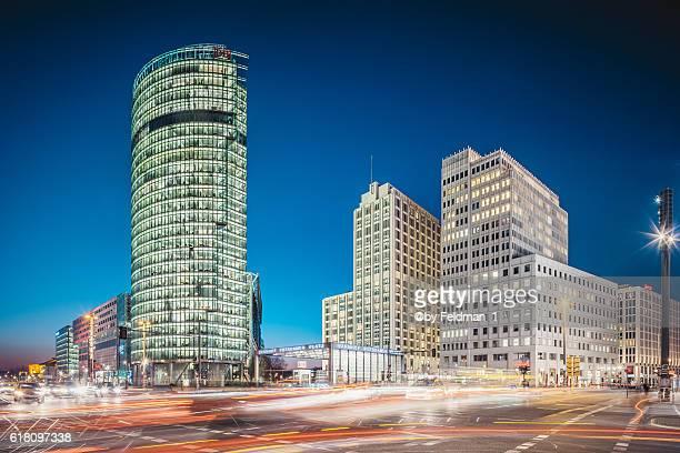 Evening traffic at Potsdamer Platz, Berlin