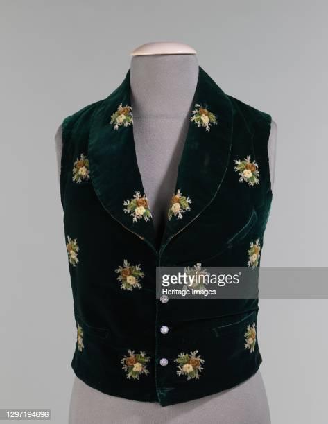 Evening vest, American, 1838. Artist Unknown.