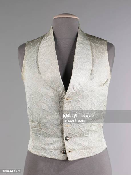 Evening vest, probably French, 1855-60. Artist Unknown.
