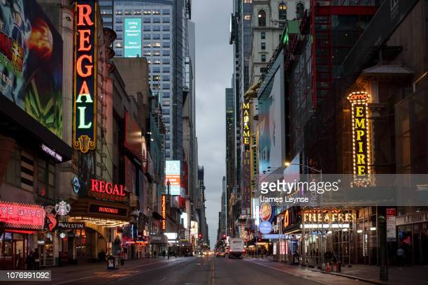 Evening view of 42nd Street looking East towards Times Square