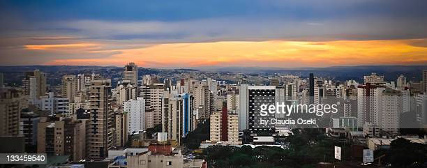 evening view of goiania city - goiania stock pictures, royalty-free photos & images